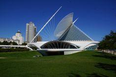 Quadracci Pavilion of the Milwaukee Art Museum designed by Santiago Calatrava
