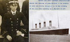 Amazing letter reveals for the first time how Titanic owners demanded huge sums from grieving families to be reunited with bodies of ship's crew│Daily Mail Rms Titanic, Titanic History, Belfast, Titanic Underwater, Titanic Artifacts, Monument Men, Legends And Myths, Liverpool, Modern History