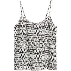 H&M Woven top (€5,53) ❤ liked on Polyvore featuring tops, tank tops, shirts, t-shirts, braided shirt, braided tank top, woven tank top, shirt top and h&m shirts