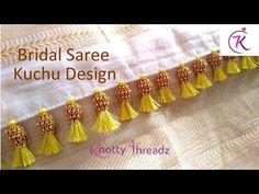 How to make Bridal Baby Kuchu Design Stylish Blouse Design, Fancy Blouse Designs, Blouse Neck Designs, Saree Tassels Designs, Saree Kuchu Designs, Hand Embroidery Dress, Hand Embroidery Designs, How To Make Tassels, Stitching Dresses