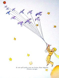 The Little Prince published in 1943, is a novella by French aristocrat, writer, poet and pioneering aviator Antoine de Saint-Exupéry (1900–1944). He wrote and illustrated the manuscript while exiled in the United States after the Fall of France on a mission to persuade its government to enter the war against Nazi Germany. In the midst of personal upheavals and failing health he wrote a tender tale of loneliness, friendship, love and loss, in the form of a young prince fallen to Earth.