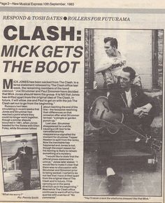 "The Clash ""Mick gets the boot""..."