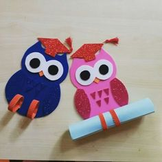 34 Moving up ceremony ideas - Aluno On Kids Crafts, Owl Crafts, Summer Crafts, Preschool Activities, Diy And Crafts, Graduation Theme, Preschool Graduation, Graduation Gifts, Owl Classroom