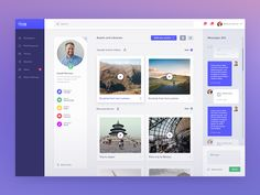 Hi!, one more screen from our new project for an US tech company. We're not allowed to tell you a lot about this project but we're really excited about it!   As you can see this is a profile page -...