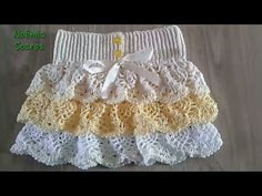 YouTube Moda Crochet, Baby Dress Patterns, Baby Design, Crochet For Kids, Lace Shorts, Projects To Try, Make It Yourself, Videos, Knitting