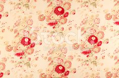 Somerset Hills Antique Floral Fabric royalty-free stock photo