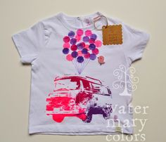 Watermarycolors: Estampación manual: Camisetas infantiles Watermarycolors