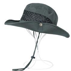 b72792aa HOMEJU Unisex Wide Brim Hat for Fishing-Camping-Waterproof Outdoor Transit Sun  Hat - Dark Grey - CV183GOWEGC