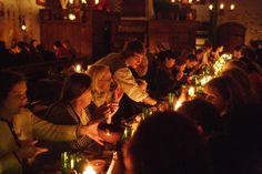 Olde Hansa Medieval restaurant in Tallin Estonia.