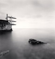 Plongeoir, Nice, France, 1997 by Michael Kenna Nice, Moving To San Francisco, Black And White Landscape, Museum Exhibition, Diving, Tower, United States, Europe, Fotografia