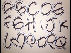 CURSO LETRA TIMOTEO GRATIS!! - YouTube Hand Lettering Alphabet, Doodle Lettering, Graffiti Lettering, Calligraphy Letters, Brush Lettering, Bubble Letters, Lettering Tutorial, Alphabet And Numbers, Writing