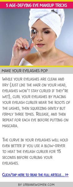 5 age-defying eye makeup tricks - Make your eyelashes pop