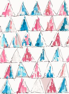 i ♥ geometry Painted Triangles by Marisa Hopkins
