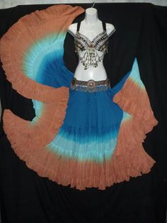 DIp Dye 25 yard skirt Sandy Beaches Tribal Skirts, Tribal Fusion, Dip Dye, Sandy Beaches, Cool Costumes, Gypsy, Dancing, Cute Outfits, Beautiful Women