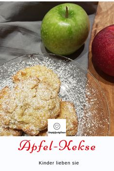 Recipe for apple biscuits - Juicy apple biscuits. Quick recipe for apple biscuits. Apple Recipes Easy, Apple Dessert Recipes, Easy Cookie Recipes, Easy Healthy Recipes, Quick Recipes, Healthy Snacks, Cake Recipes, Easy Meals, Desserts