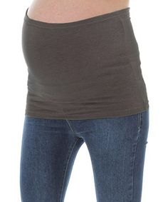 Charcoal Gray Maternity Belly Band by Peek-a-boo on #zulily today!