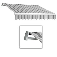 AWNTECH 18 ft. LX-Maui Manual Retractable Acrylic Awning (120 in. Projection) in