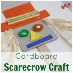 Cardboard Scarecrow Craft Based on Book, Barn Dance by Bill Martin Jr. (from Toddler Approved) Fall Preschool Activities, Preschool Crafts, Preschool Halloween, Preschool Books, Preschool Learning, Therapy Activities, Summer Activities, Book Activities, Toddler Activities