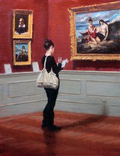 Pauline Roche  'Taking Notes' (18x14)