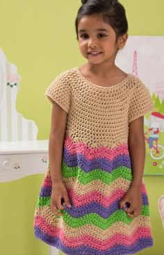 24 patterns in this Crochet Dress Roundup compiled by SimplyCollectibleCrochet.com  |  Red-Heart-Chevron-Dress-by-Lorene-Eppolite