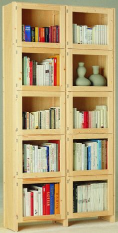 Lundia Wooden Book Shelves with Glass Doors - Click to change size