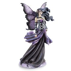 Purple Goth Fairy - New Age, Spiritual Gifts, Yoga, Wicca, Gothic, Reiki, Celtic, Crystal, Tarot at Pyramid Collection