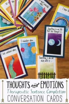 Counseling Intervention Tool to help young people talk about their feelings, thoughts, and emotions. Great for rapport building in therapy and school counseling.