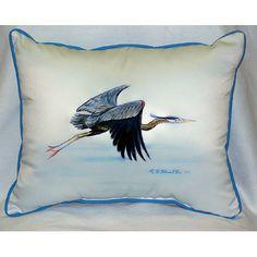 Eddie's Blue Heron Pillow- Indoor/Outdoor