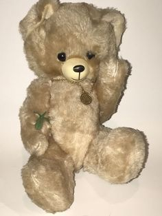 """Vintage Collectible Jointed 12"""" Teddy BEAR Mohair BERLIN Souvenir Beige Necklace Berlin, Beige, Teddy Bear, Vintage, Toys, Animals, Souvenir, Activity Toys, Animales"""