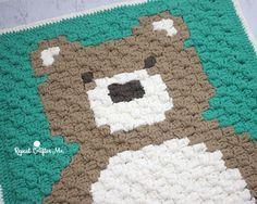 Crochet C2C Bernat Blanket Bear