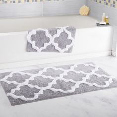 204 best *Bath > Bath Rugs* images on Pinterest in 2018 | Bath rugs Gray Bathroom Rug Sets on gray bathroom vanities, gray bathroom tile, gray bathroom furniture, gray bath sets, gray bathroom curtains, gray bathroom runners, gray bath mats, gray and burgundy bathroom rugs, gray bath towels, white bathroom sets,