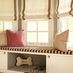 bedrooms - built in window seat, dog bed....would need to modify