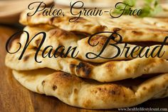 3 ingredient Naan bread - almond flour, tapioca flour and coconut milk (plus butter or oil for greasing the skillet) (Vegan Gluten Free Bread) Gf Recipes, Indian Food Recipes, Gluten Free Recipes, Low Carb Recipes, Whole Food Recipes, Cooking Recipes, Healthy Recipes, Gluten Free Naan, Gluten Free Cooking