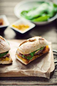 Steak sandwich on ciabatta