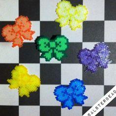 Bow hair clips hama mini beads by alsterbead