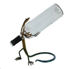 Gecko Wine Bottle Holder - Fire and Ice