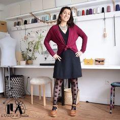Patron de couture du 34 au 52 - Tissu maille - Marges de couture comprises - Difficulté 2/5 - Lien affilié