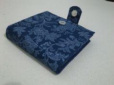 Cartonagem - Carteira (azul, florido)