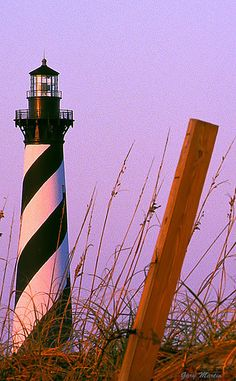 This is the most beautiful lighthouse! Cape Hatteras, North Carolina at Dawn Nc Lighthouses, North Carolina Lighthouses, North Carolina Homes, Cape Hatteras Lighthouse, Hatteras Island, Beacon Of Light, Destinations, Vacation Spots, Places To See