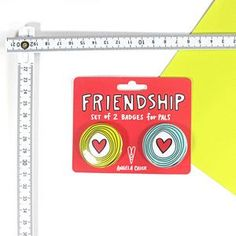 Pals Badge Set. Make your friend smile with a thoughtful palentine's gift!