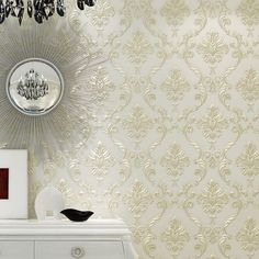 PAYSOTA European Simple Luxury Damask Wallpaper For Wall 3 D Classic Embossed TV Room Bedroom Wall Paper Home Decor
