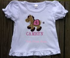 Applique Birthday Shirt with horse by nwalkercreations on Etsy, $20.00