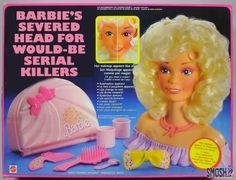 honest toy name for Barbie hairstyle head hahahaha