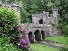 Ballysaggartmore Towers are two ornate entrance lodges that are situated on the former Ballysaggartmore Demesne approx 2.5 kilometres from the town of Lismore in County Waterford, Ireland.