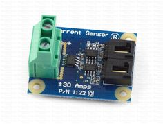 1122_0 - 30 Amp Current Sensor AC/DC Measure up to 30 amps DC or ±30 amps AC with this current sensor. Separate outputs for AC and DC components connect to an analog input.