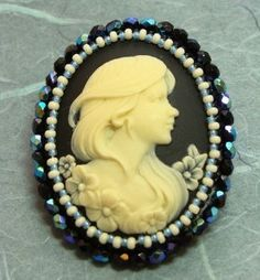 cameo...contemporary with hair down and flowing