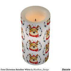Cute Christmas Reindeer White Flameless Candle Flameless Candles, Led Candles, Holiday Cards, Christmas Cards, Christmas Decorations, Christmas Items, Holiday Treats, Christmas Card Holders, Decorating Your Home