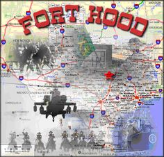 Fort Hood is the largest armored base in the free world, located in Killeen, Texas. The post is named after Confederate General John Bell Hood. It is located halfway between Austin and Waco, about 60 miles from each in the State of Texas