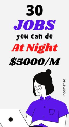 Night jobs are great ways to make money online and earn more income streams. Are you looking for part time jobs you can do at night and that pay good money? You are in the right place. Here is a good list of 30 night jobs that pay well. Ideal jobs for moms, jobs for men, jobs for couples and side hustles for students Earn Money From Home, How To Get Money, Make Money Online, Home Based Work, Work From Home Jobs, Easy Online Jobs, Night Jobs, Good Paying Jobs, Job Help
