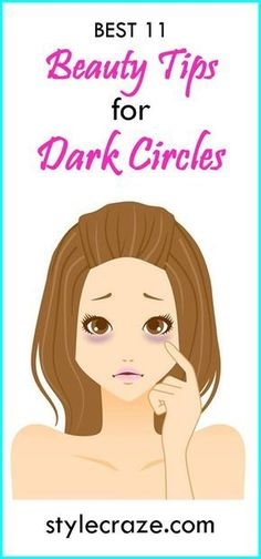 Read further to know 11 tips on how to remove dark circles naturally and reduce the puffiness under eyes. #DarkCirclesRemedyDIY